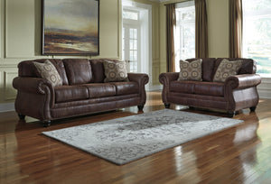 Breville Brown Sofa & Loveseat 8000338 8000335  Signature Design by Ashley