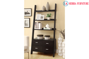 Ladder Bookcase with 4 Drawers