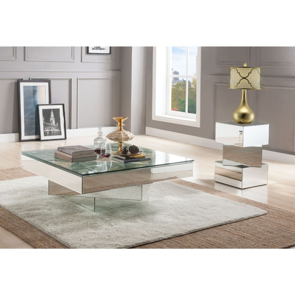 Meria Coffee Table - 80270 - Mirrored