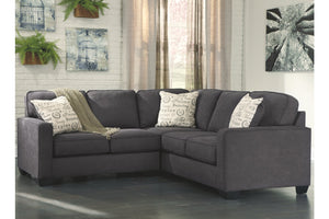 Gray modern sectional alenya cheap ashley furniture