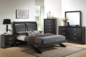 Galinda Faux Leather Platform Bedroom Set