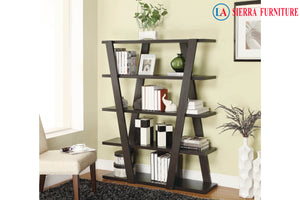Contemporary V Shaped Bookcase