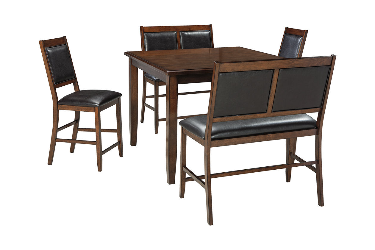 Meredy Counter Height Dining Room Table And Bar Stools D395 323 Set