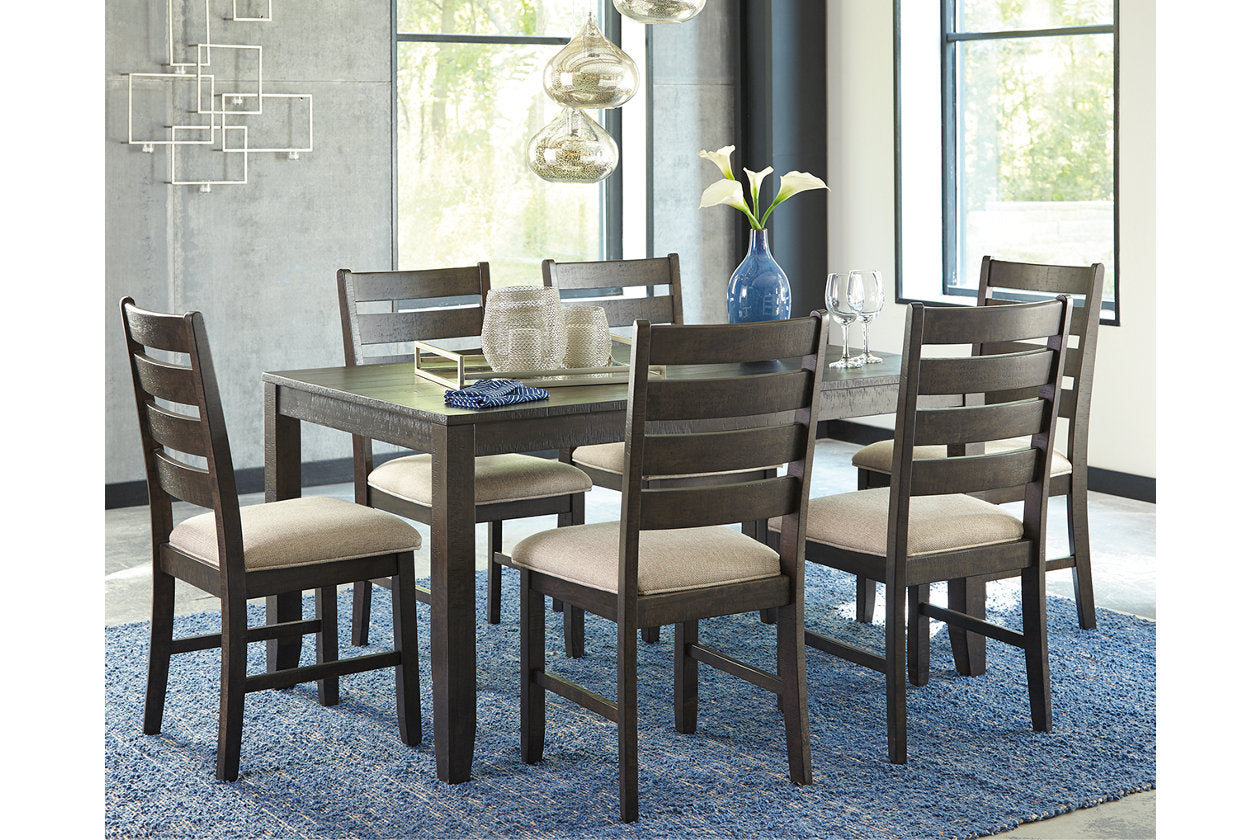 Rokane dining room table and chairs set of 7 d397 425