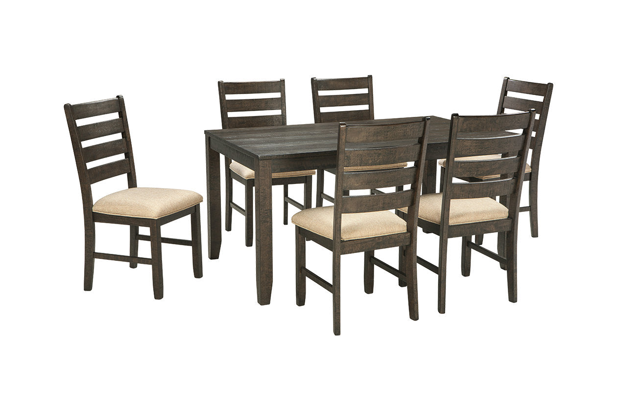 rokane dining room table and chairs set of 7 d397 425 la sierra