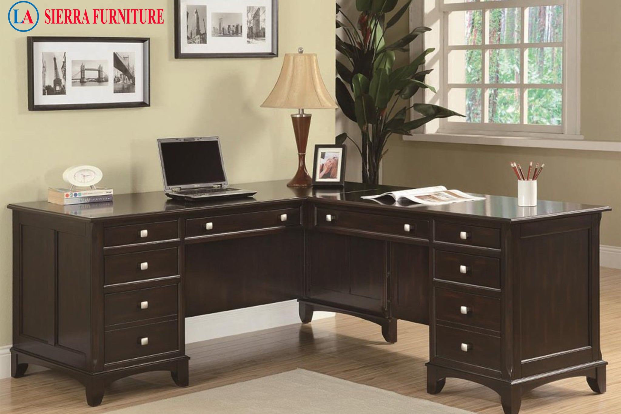 Garson l shaped desk la sierra furniture