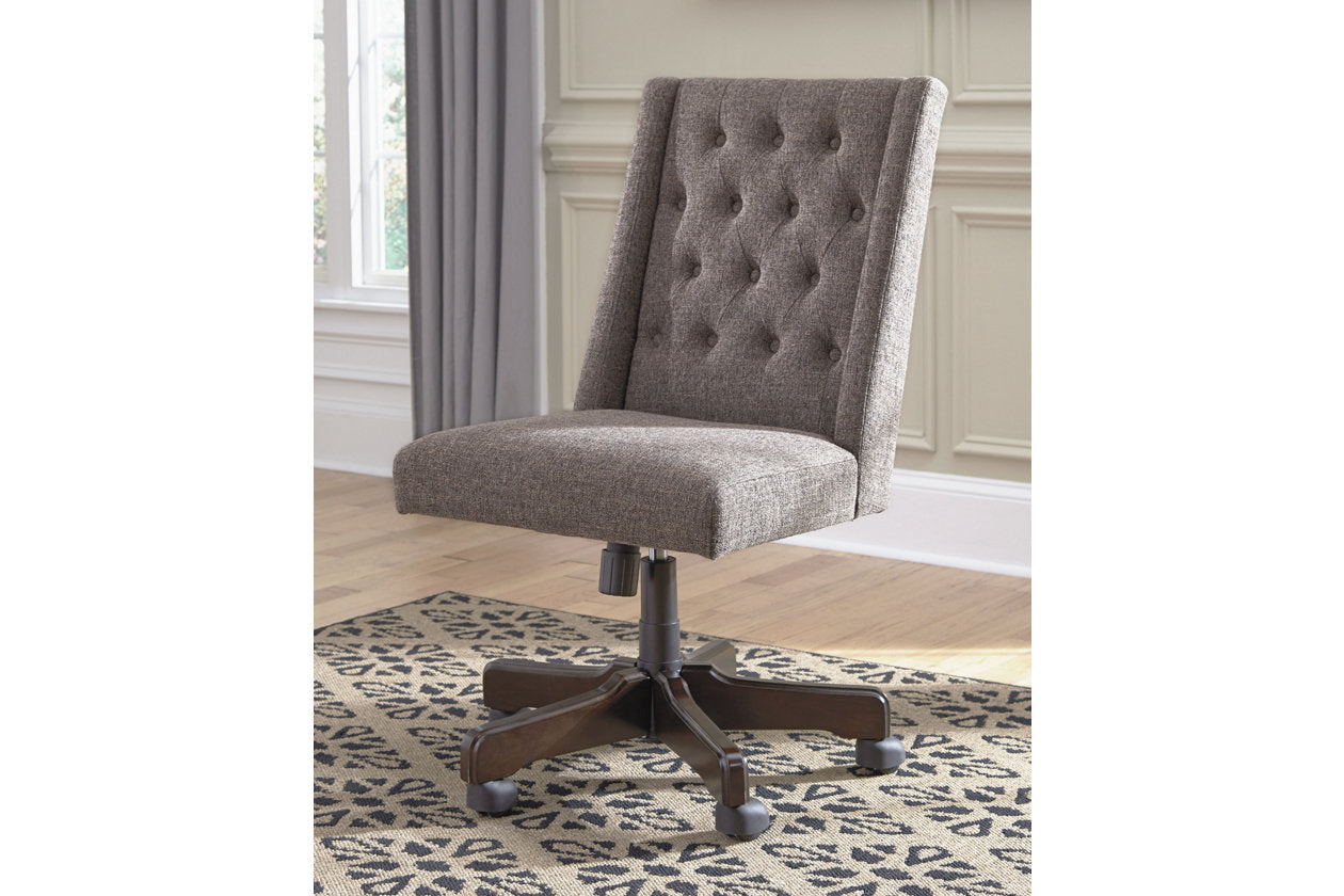 desk chair swivel grayish home chairs office product brown townser