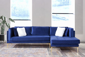Naila Blue Velvet RAF Sectional
