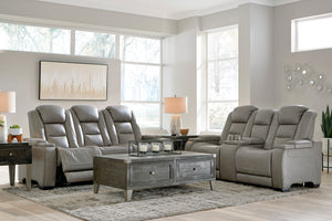 The Man-Den Power Reclining Sofa, Loveseat & Chair