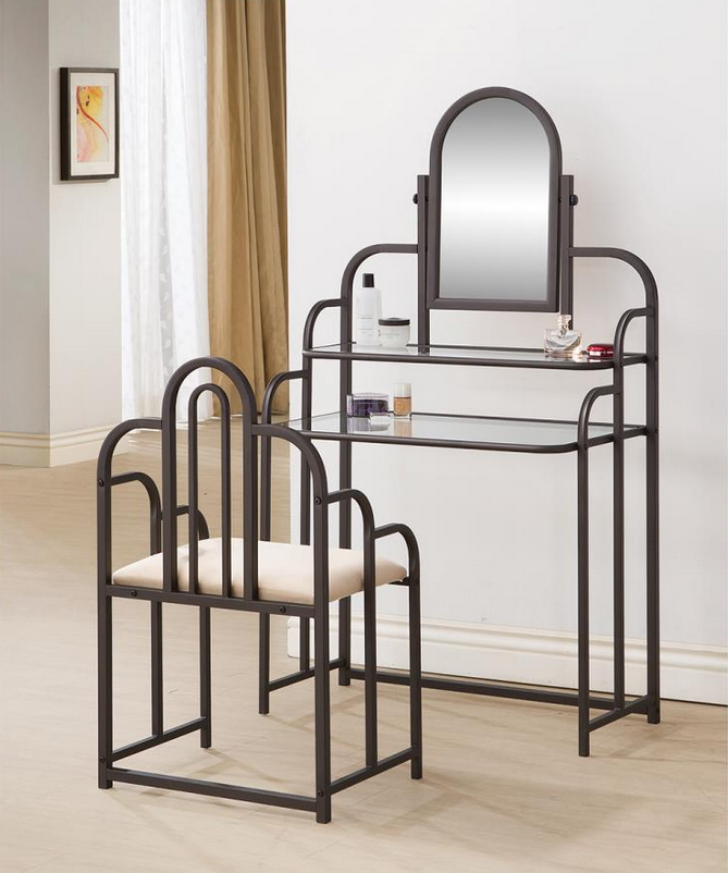 Metal Frame Vanity Set