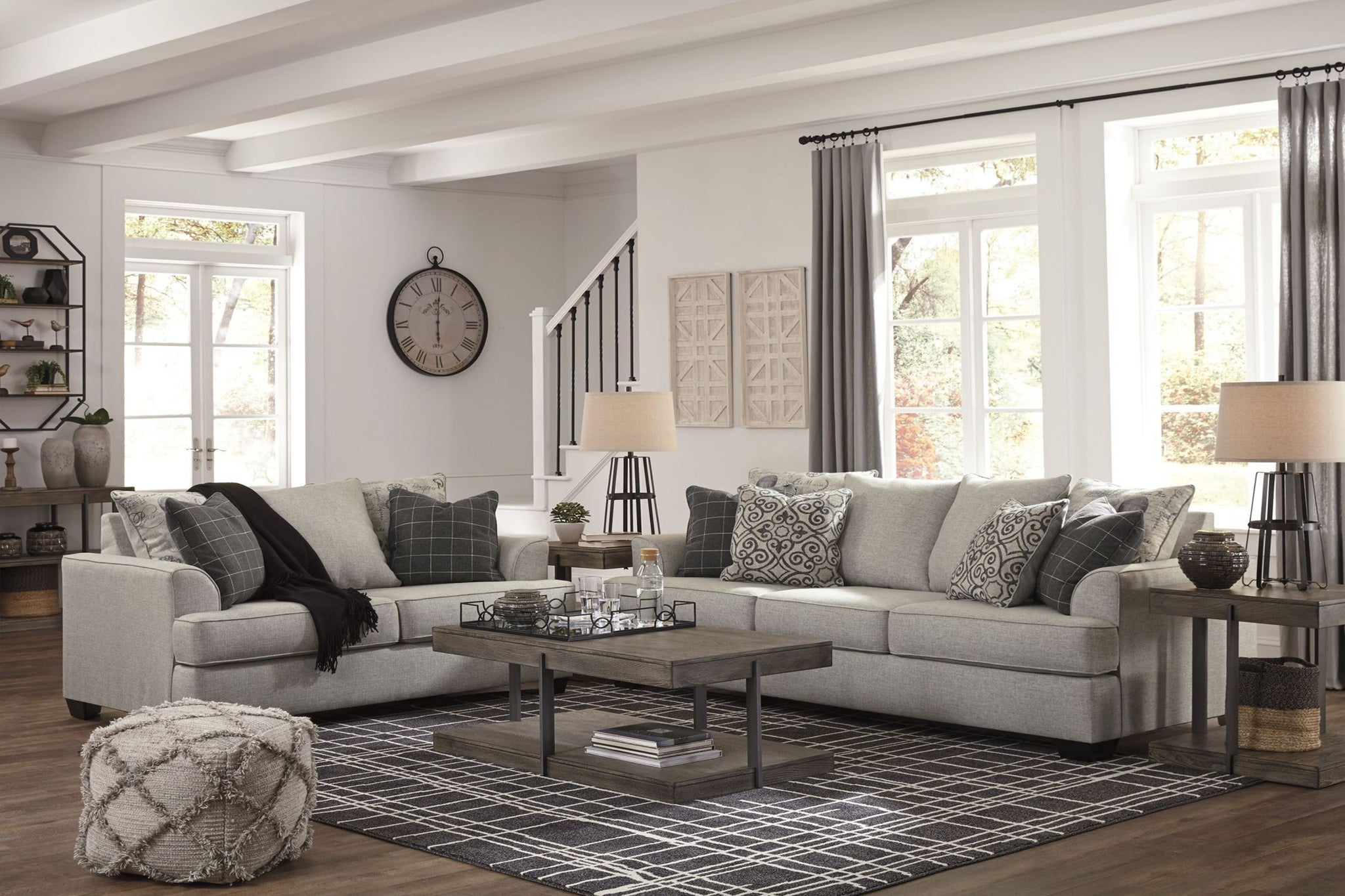 Velletri Pewter Queen Sofa Sleeper La Sierra Furniture