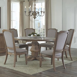 Florence Warm Natural Round Dining Table Set