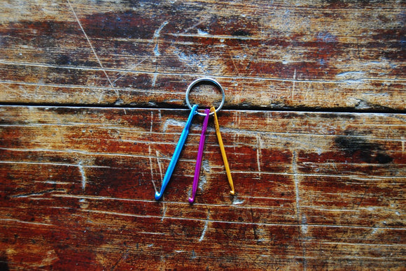 Mini Crochet Hook Key Ring