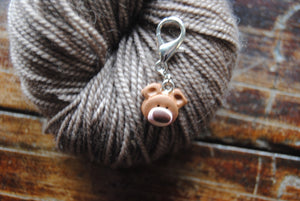 Clay stitch markers - Teddy bears