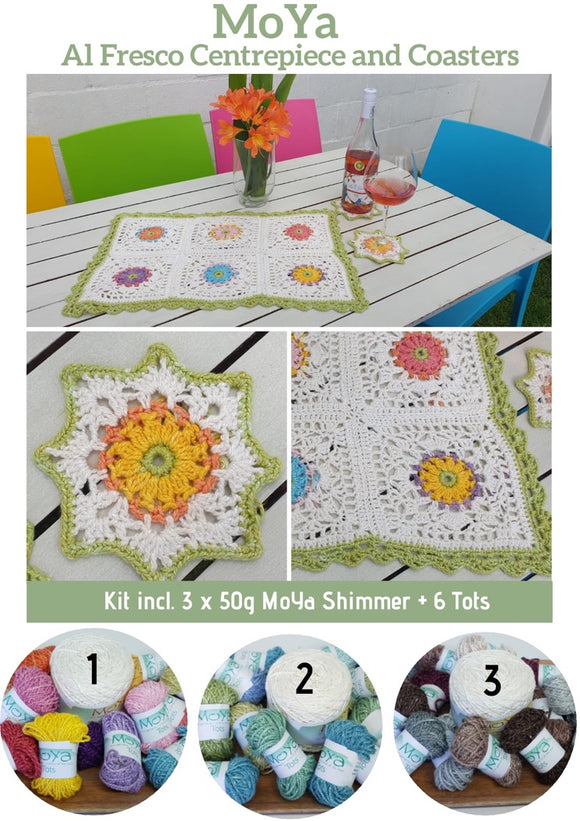 MoYa Al Fresco Centerpiece and Coaster Kit