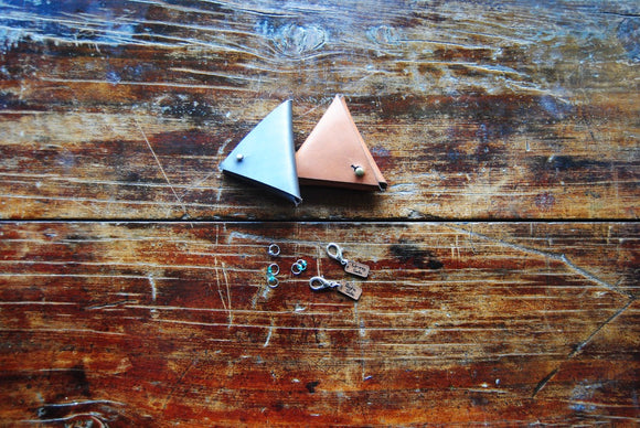 Luna Fibers Accessories - Leather Stitch Marker Triangle