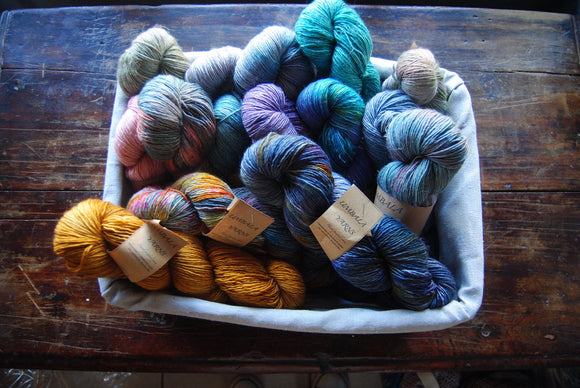 Umbala Handpainted Yarns - Merino/Linen Blend Fingering