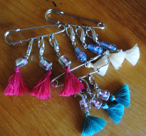 Clay Cloud Creations - Glass Bead Stitch Markers