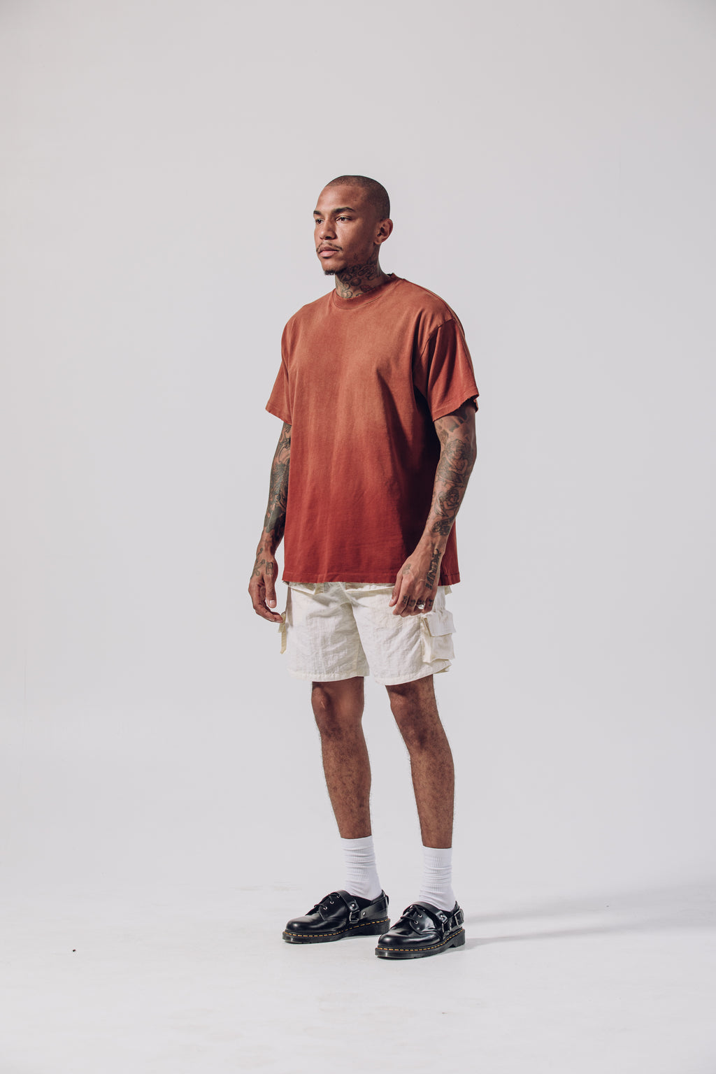 Single Stitch T-Shirt - Dark Rust