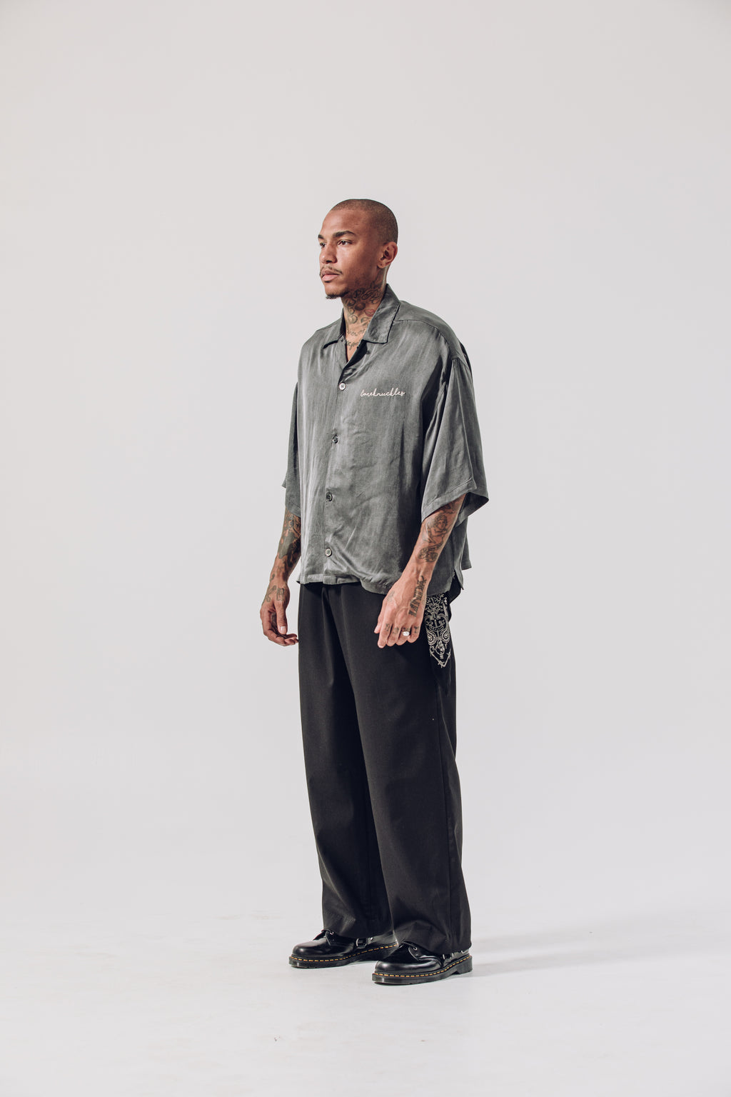 Box Camp Collar Shirt - Slate