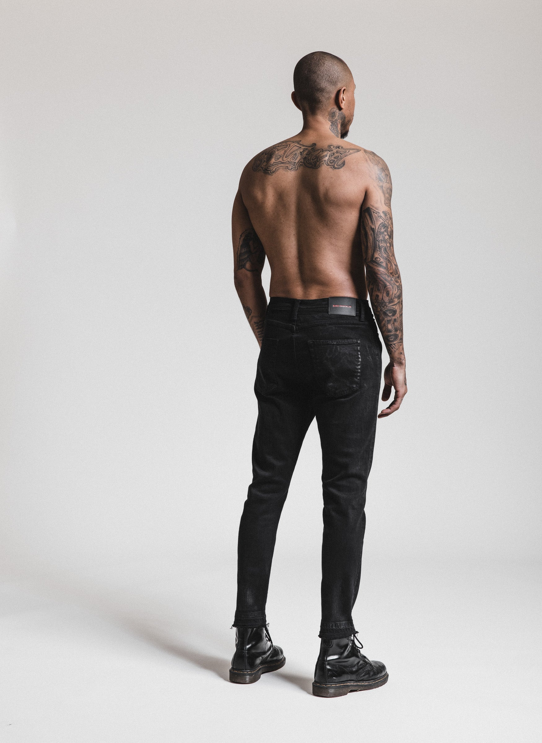 Clay Wash Skinny Denim - Black
