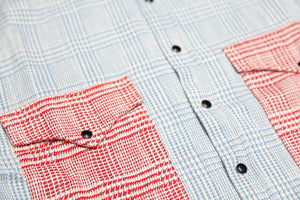 Two-Tone Flannel - Blue and Red
