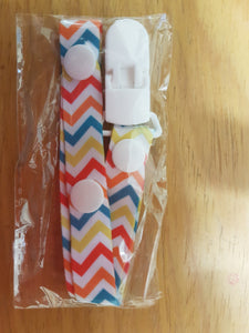 Stripes Pacifier Clip