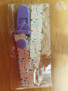 Dots Pacifier Clip - myabdlsupplies