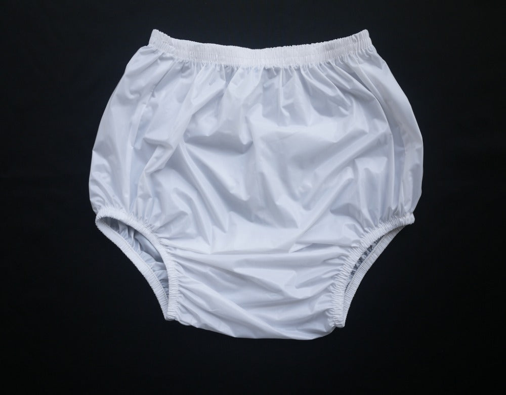 Milky White Plastic Pants XL