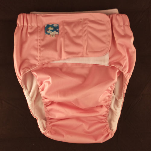Pink Eco Pocket Diaper M - myabdlsupplies