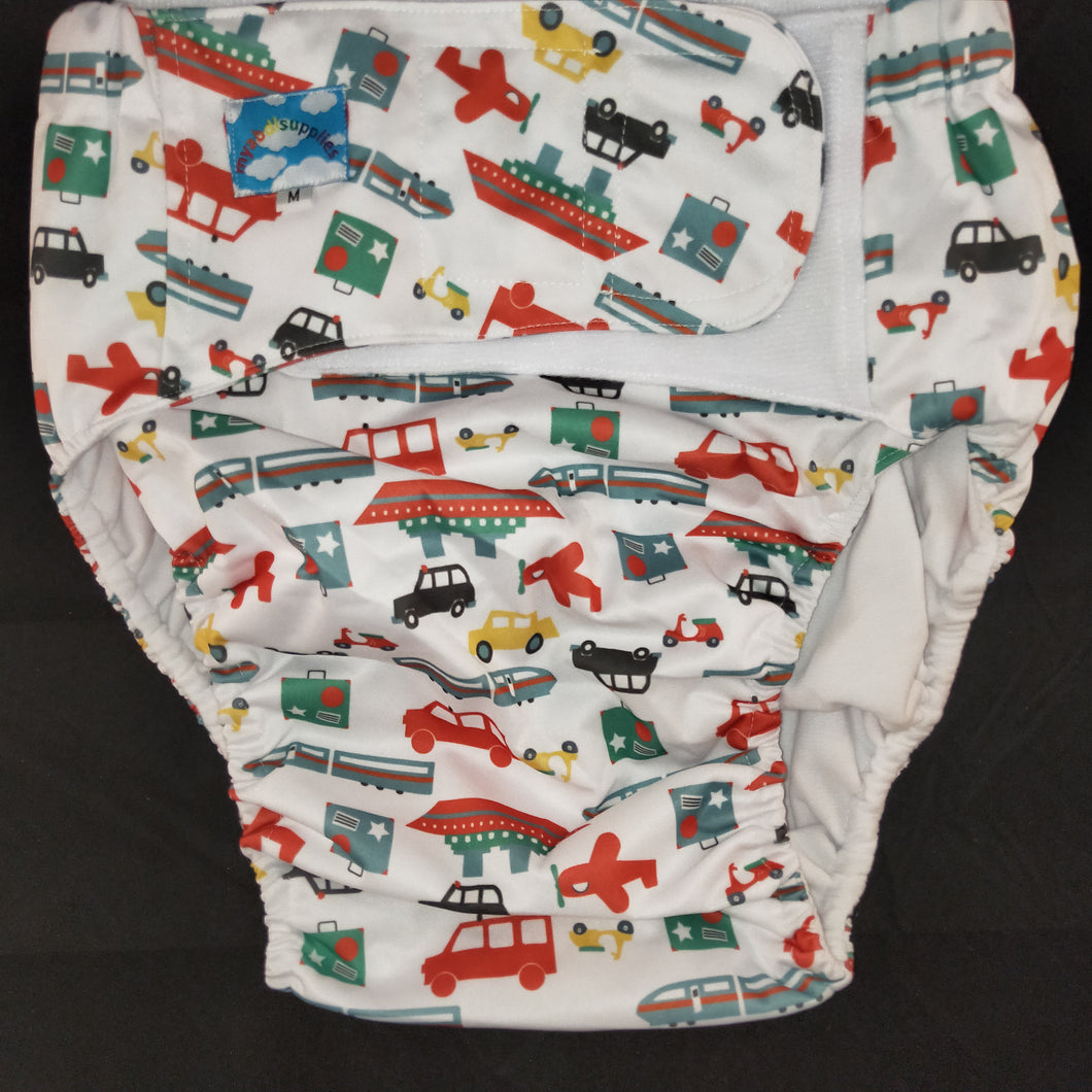 Transportation Modern Washable Diaper MED - myabdlsupplies