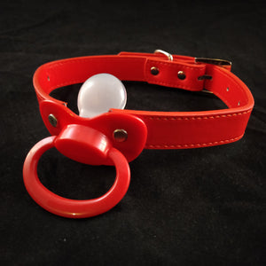 Red Pacifier Gag - myabdlsupplies