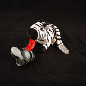 ZEBRA PACIFIER HOLDER