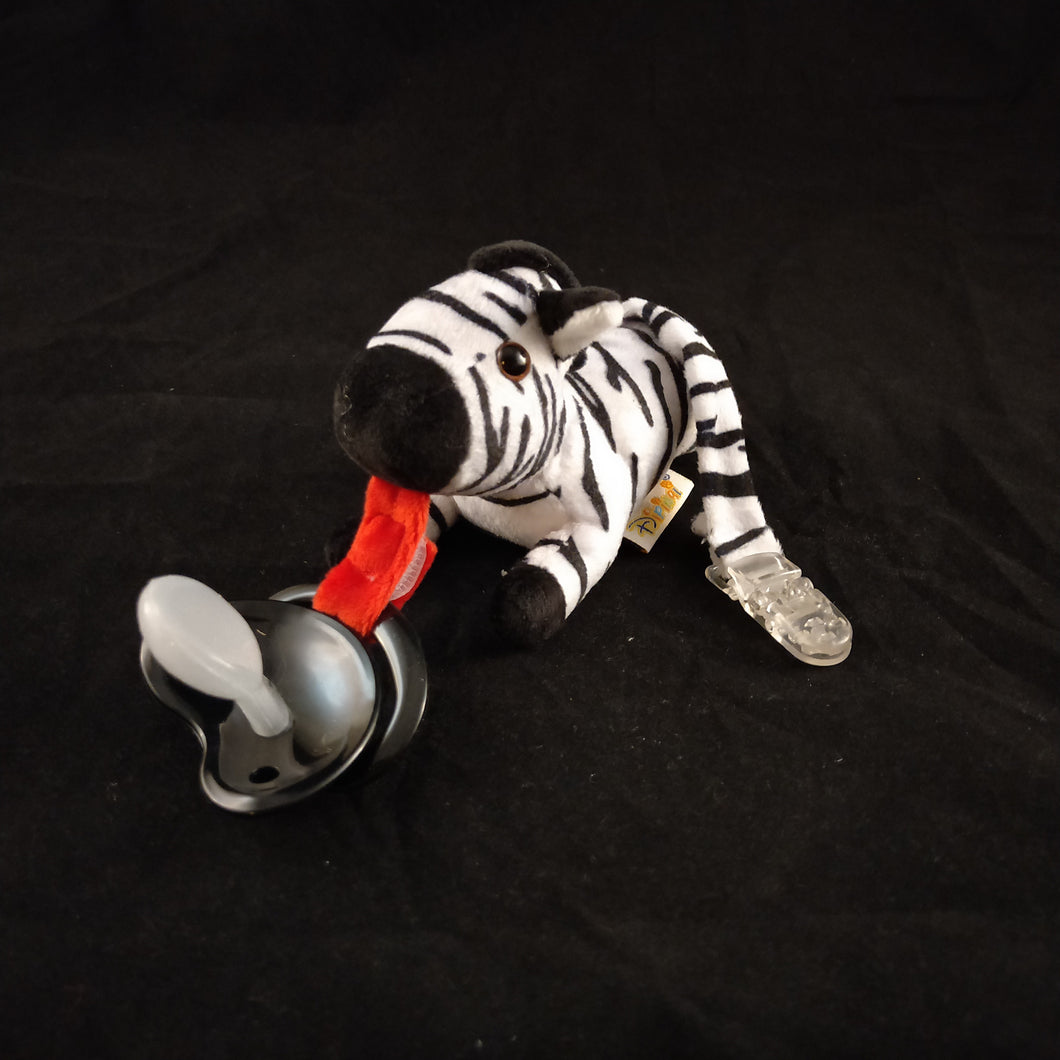 ZEBRA PACIFIER HOLDER - myabdlsupplies