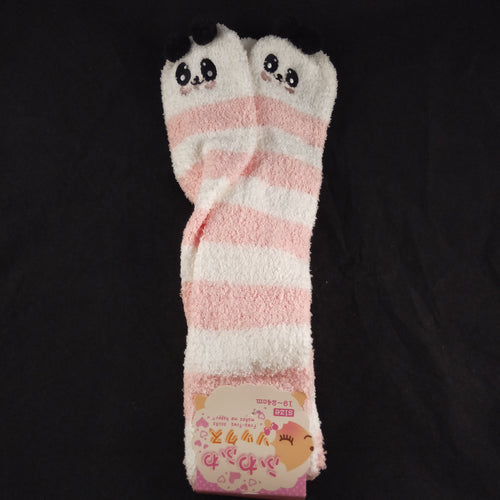 PANDA PINK & WHITE KNEE HIGH SOCKS