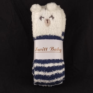 CAT BLUE & WHITE KNEE HIGH SOCKS