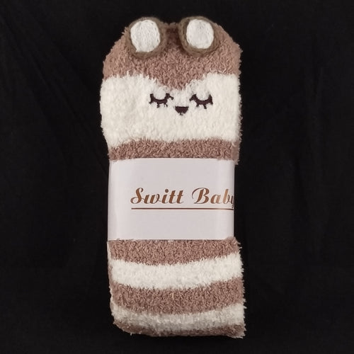 CAT BROWN & WHITE KNEE HIGH SOCKS - myabdlsupplies