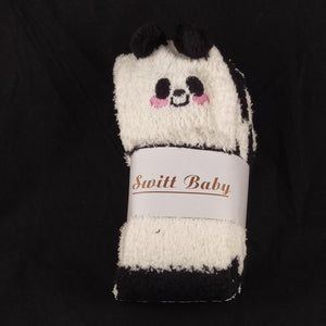 PANDA BLACK & WHITE KNEE HIGH SOCKS - myabdlsupplies