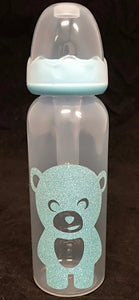 Blue Teddy Bear Bottle - myabdlsupplies