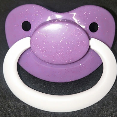 Glitter Purple Pacifier - myabdlsupplies