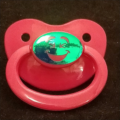 myabdlsupplies Custom Dark PInk Pacifier Smiley - myabdlsupplies