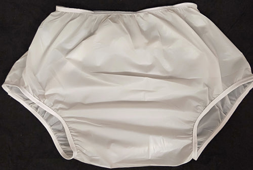 Plastic Pants White XLG - myabdlsupplies
