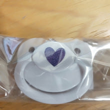 White Pacifier Love Heart - myabdlsupplies