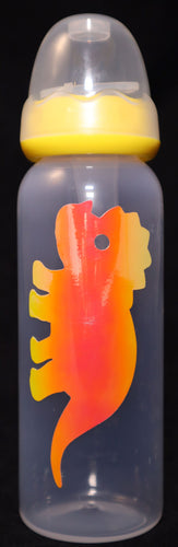 Yellow Holographic Triceratops AB/DL Bottle - myabdlsupplies