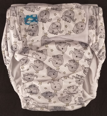 Elephants Eco Pocket Diaper M - myabdlsupplies
