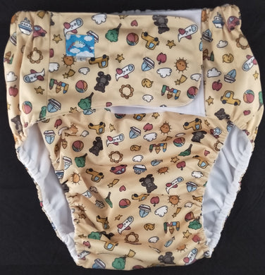 Nursery Print Modern Washable Diaper LRG - myabdlsupplies