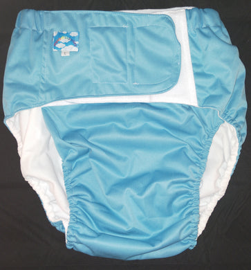 Blue Eco Pocket Diaper L
