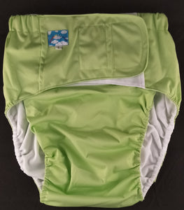 Lime Modern Washable Diaper LRG - myabdlsupplies