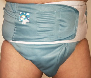 Blue Modern Washable Diaper LRG - myabdlsupplies