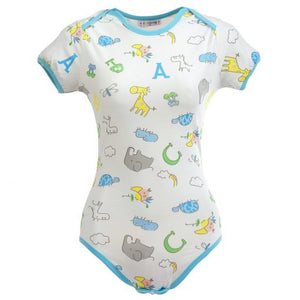 Giraffe and Zoo Animals Onesie Bodysuit MED - myabdlsupplies